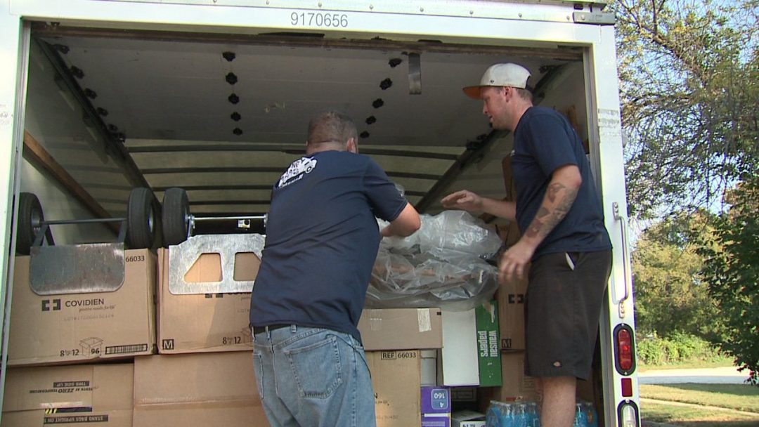 """Milwaukee area movers haul donated items to hurricane victims; """"We always believe in helping out""""."""